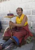 祈祷的藏语 库存图片