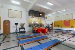 祈祷puzhaosi寺庙大厅  免版税库存图片