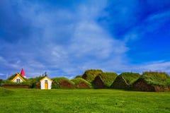 祖先村庄在冰岛 库存照片