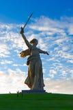 祖国伏尔加格勒雕象18 免版税库存照片