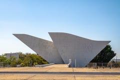 祖国和自由的坦克雷多・内维斯万神殿在三力量广场-巴西利亚,联邦的Distrito,巴西 免版税图库摄影