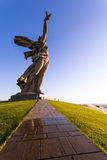 祖国在Volgorad (前斯大林格勒),俄罗斯叫纪念品 库存照片