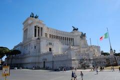 祖国的法坛从广场Venezia的在罗马,意大利 免版税图库摄影