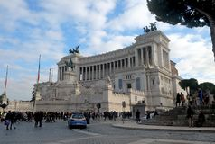 祖国的法坛是一座纪念碑在罗马 图库摄影