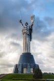 祖国纪念碑的母亲在基辅,乌克兰 库存图片
