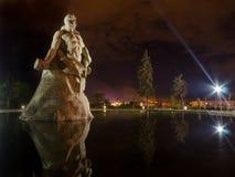 祖国纪念碑,伏尔加格勒,俄罗斯 `英雄战斗对死亡`正方形 免版税库存图片