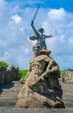 祖国纪念碑,伏尔加格勒,俄罗斯 免版税库存图片