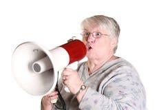 祖母叫喊 库存照片