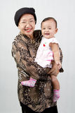 祖母和她的孙女 库存图片