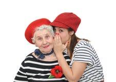 祖母和孙女 库存图片