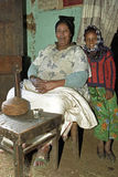 祖母和孙家庭画象  免版税库存照片