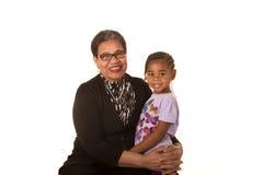 祖母和孙 库存照片