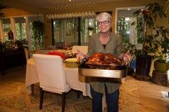 祖母土耳其晚餐 免版税库存图片