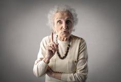 祖母忠告 库存照片