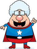 祖母想法超级英雄 库存例证