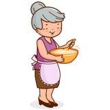 祖母烹调 库存例证