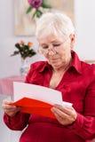 祖母的生日贺卡 免版税库存照片