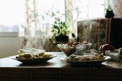 祖母` s饺子 图库摄影