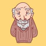 祖父动画片 免版税库存照片
