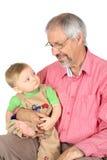 祖父和孙子 库存图片