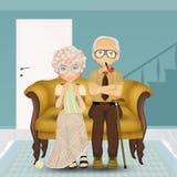 祖父或祖母长沙发的 皇族释放例证