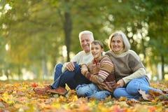祖父母和孙子 免版税图库摄影