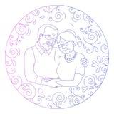 祖父母天卡片 图库摄影