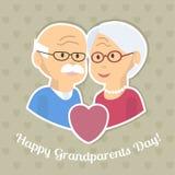 祖父母天卡片 免版税图库摄影