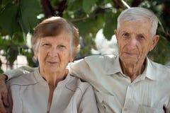 祖父母画象  免版税库存照片
