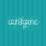 祖父母的天 免版税库存照片