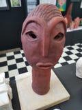 祖鲁族人瓦器面孔 图库摄影