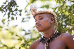 祖鲁族人部落成员 免版税库存图片