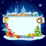 祝愿圣诞快乐的圣诞老人 图库摄影