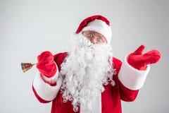 祝贺与假日的快乐的圣诞老人 库存照片