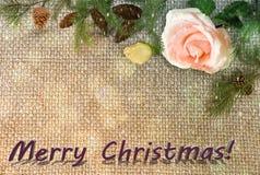 祝贺与圣诞节和新年2017年 免版税库存照片