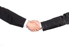 祝贺与握手 免版税库存图片