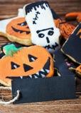 祝贺和自创曲奇饼的黑标签 库存照片