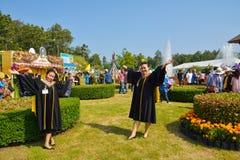 祝贺新的gradustes 库存照片