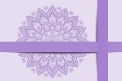 祝贺,紫罗兰色样式 免版税库存照片