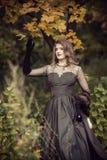 神仙在一个美妙的秋天森林里 免版税库存照片