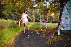 神仙在秋天森林里 免版税图库摄影