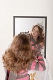 神仙的女孩一点做扮演公主  库存图片