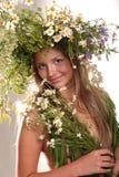神仙的森林女孩 免版税图库摄影