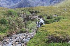 神仙的水池,斯凯岛小岛  免版税库存图片