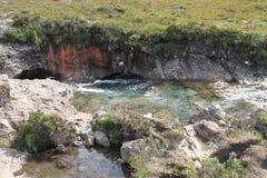 神仙的水池,斯凯岛,苏格兰小岛  免版税库存图片