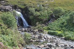 神仙的水池,斯凯岛,苏格兰小岛  免版税图库摄影