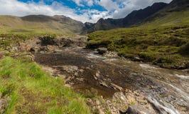 神仙的水池, Glenbrittle,斯凯岛,苏格兰小岛  库存图片