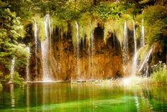 神仙的瀑布 库存图片