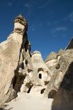 神仙的烟囱之家,对Cappadocia,土耳其的旅行 免版税库存照片