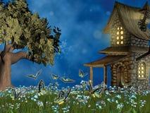 神仙的草坪传说 库存照片